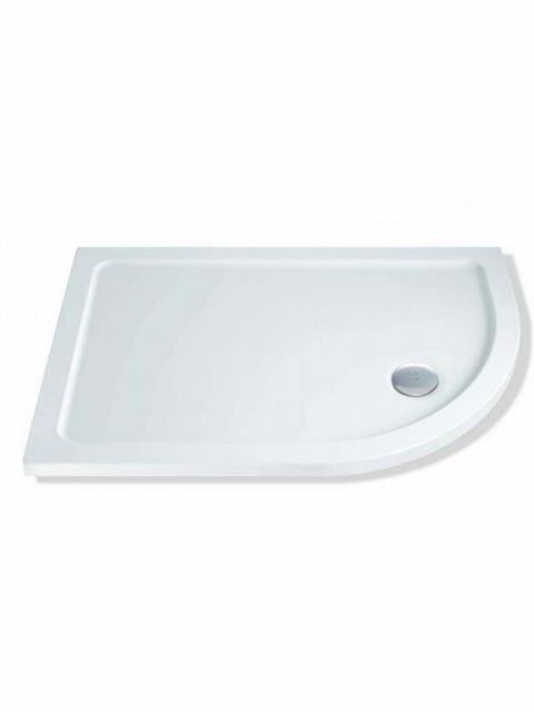 MX Durastone 1000mm x 800mm Low Profile Offset Quadrant Shower Tray Right Hand XFJ